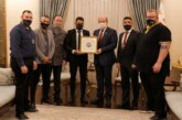 Ersin Tatar, KKTC Fenerbahçeliler Derneği heyetini kabul etti