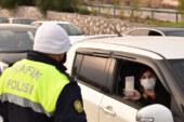 Polis Lefkoşa ve Girne sınırlarında kontrol yapıyor