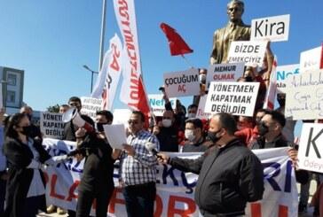 Turizm Emekçileri  Platformu, bugün Girne'de eylem gerçekleştirdi