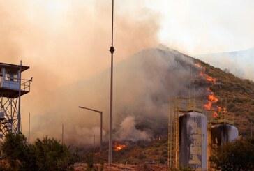 Alevler termik santrale sıçradı